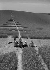 Crop Circle Gathering (Stefan the Cameraman) Tags: worship prayer wiltshire lange cropcircle