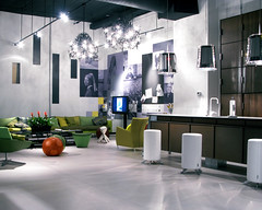 Trespa showroom New York Soho district (Seattle rainscreen) Tags: lighting newyork kitchen architecture bar cabinet furniture interior soho panels manhatten g9 casework trespa solidphenolic trespanewyorkshowroom