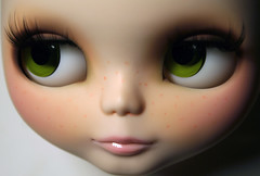 Sweet Caroline's Green Eyes (erregiro) Tags: pink nose eyes doll lashes sweet smooth makeup lips carve blythe mold custom encore sbl fleckles erregiro primadolly ashlette