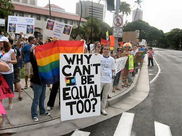 Image from the Marriage Rally in Hawaii