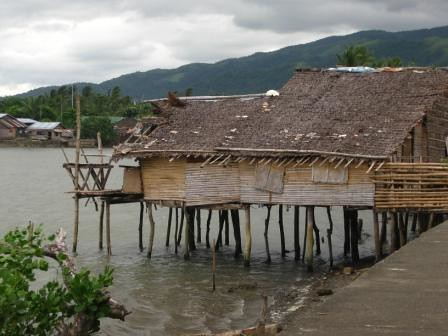 Huts on water.