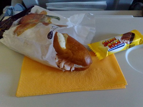 Ham Sandwich on Lufthansa