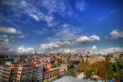 Instambul sky [HDR] (Illusiontom) Tags: blue sky panorama cloud clouds landscape high nikon nuvole nuvola dynamic blu wideangle palace fisheye tokina cielo higher range altezza grandangolo hdr palazzi photomatix instambul 1116 d80 illusiontom