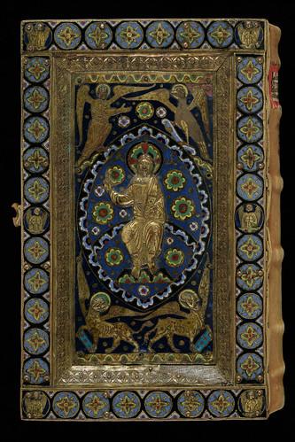 011a- Grégoire Regula pastoralis-Contratapa- Encuadernacion recubierta por una capa policromada de esmalte de Limoges- hacia el año 800