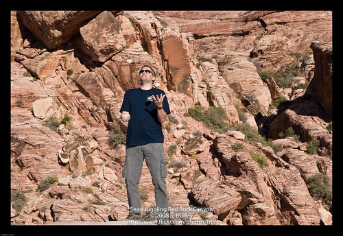 Sean Juggling Red Rock Canyon by you.