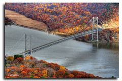 Autumn-On-Hudson (Jersey JJ) Tags: bear new york bridge autumn mountain ny river nikon suspension upstate hudson hdr d300 5x photomatix 5exp