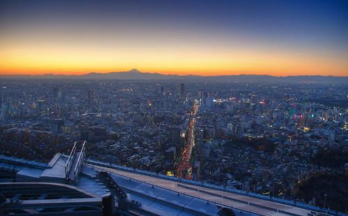 Tokyo sunset over Fuji 10