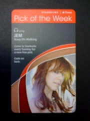 Starbucks iTunes Pick of the Week - JEM - Keep On Walking