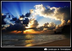 Bursting dual colours ray (NeeZhom Photomalaya) Tags: beach nature sunrise landscape malaysia cloudscape sunray terengganu kualaibai supershot bej theunforgettablepictures theunforgettablepicture rubyphotographer