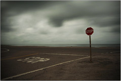 Stop (Extra Medium) Tags: california longexposure night clouds malibu boring stop stopsign desolate lonly