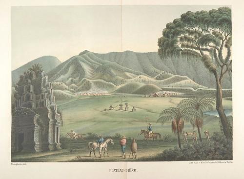 Java seine Gestalt, Pflanzendecke und innere Bauart 1857 (Junghuhn) Plateau-Dieng