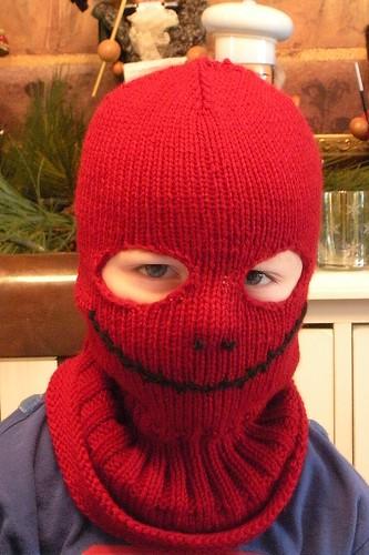red ski mask