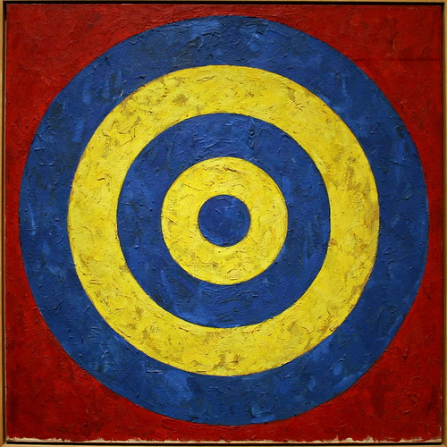 Target, 1958, oil and collage on canvas by Jasper Johns
