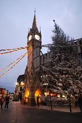 clocktower (wolfsavard) Tags: christmas decorations england tree unitedkingdom leicester clocktower