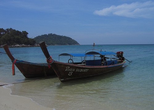 Longtail on Sunrise Beach, Ko Lipe, Thailand