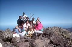 Au sommet de la Paglia Orba : Laurent et le groupe des chanteurs corses (dont Jean-Marc Ceccaldi)