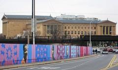 philadelphia museums of art (pwbaker) Tags: street city bridge urban philadelphia america garden spring mural pennsylvania inner