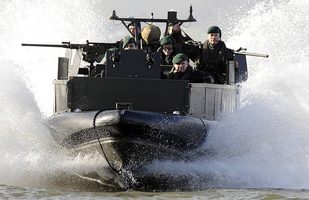 Royal Marines from 539 Assault Squadron