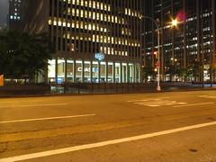 1251 6th Avenue (pdstahl) Tags: street nyc newyorkcity longexposure newyork architecture night manhattan rockefellercenter midtown 1970s 6thavenue 1251 avenueoftheamericas exxonbuilding xyzbuilding