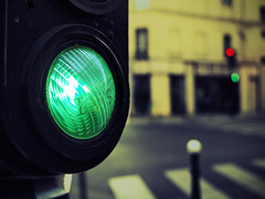 green light (fotobananas) Tags: street light red paris colour macro green pen lights traffic olympus greenlight monday hmm ep1 scientific fotobananas