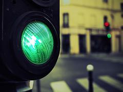 green light (fotobananas) Tags: street light red paris colour macro green pen lights traffic olympus greenlight monday hmm ep1 scientific fotobananas