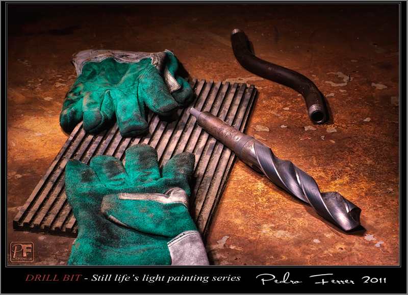 Drill bit - Still life`s light painting series