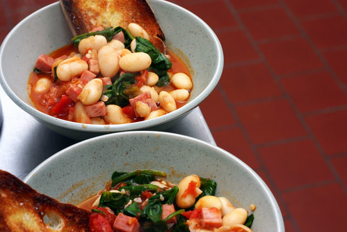 fast white bean stew