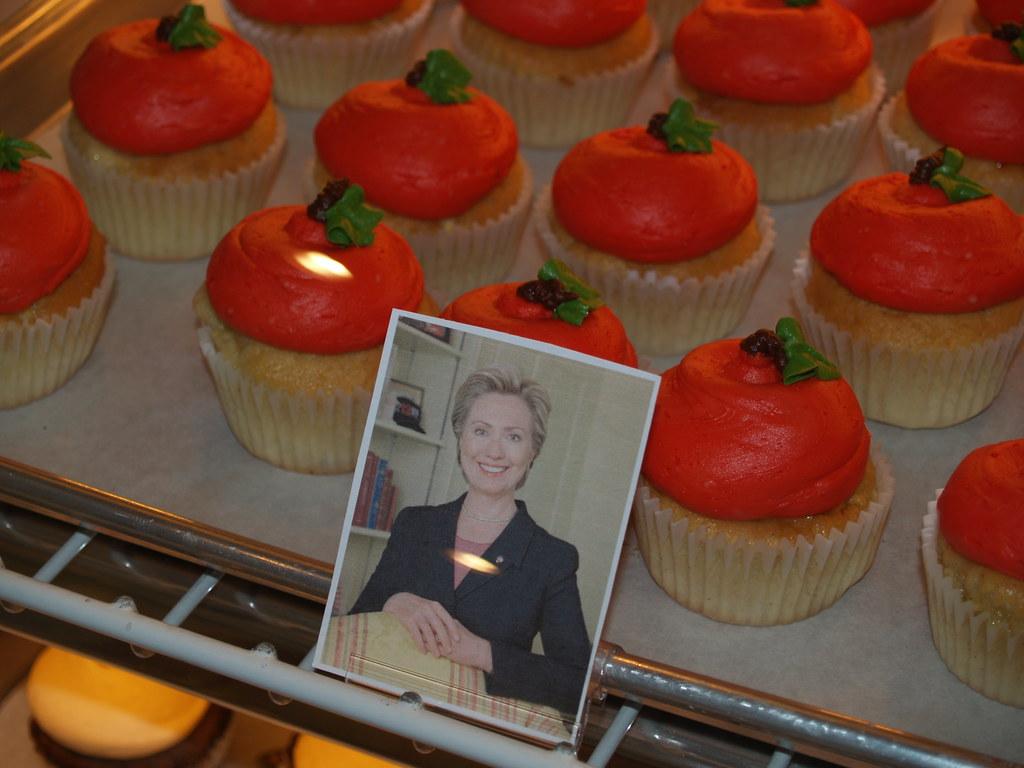 Hillary Clinton cupcakes from Hudson, Ohio's Main Street Cupcakes