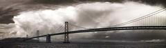 Strange cloud over Oakland (smashz) Tags: bridge panorama cloud ir oakland bay san francisco infrared smashz