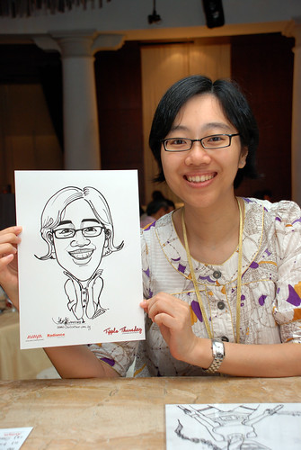 caricature live sketching Singtel Radiance Communications Avaya 8