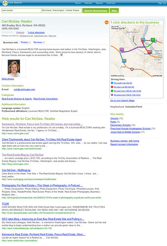 Cari McGee, REALTOR, on MSN Local Search