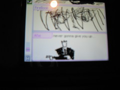 Pictochat has been RickRolled