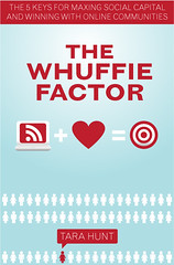 """The Whuffie Factor"" Book Cover for Tara Hunt (cindyli) Tags: project design bookcover portfolio cindyli tarahunt missrogue whuffiefactor designrabbitcom horsepigcowcom thewhuffiefactor"