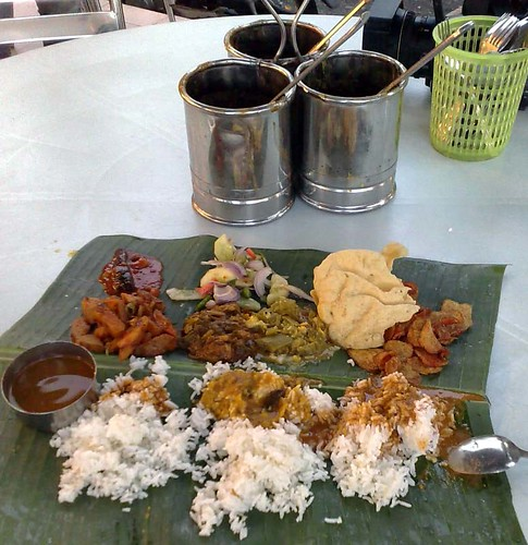 Nokia N82 Wireless Adventure II - Sri Paandi's RM4 banana leaf rice
