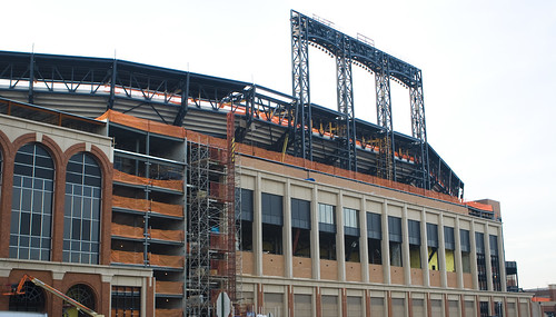 The complete outer structure of Citi Field - April 2008