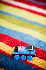 Thomas the tank engine (smcgee) Tags: baby minnesota kids train children toy child stripes minneapolis april twincities multicolored 2008 portaits onlocation d300 maplegrove