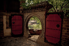 Through the doorway (Penelope's Loom) Tags: china travel nikon doors chinese doorway round d200 hebei shijiazhuang explored 18200vr interestingness136 i500 cangyanshan explore24apr08