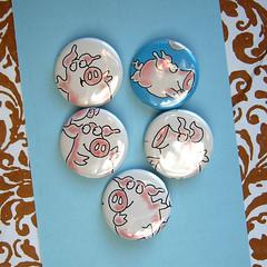 boynton pigs (joonbeam) Tags: etsy ecofriendly recycledpaper joon earthfriendly upcycled joonbeam flyinghousewife