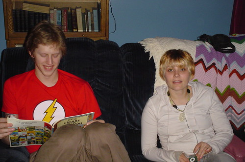 Hannah and Andrew, Christmas 2007