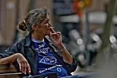 Smoking pleasure (Dr. Jaus) Tags: barcelona people calle gente cigarette smoking fumar tobacco hdr tabaco cigarrillo
