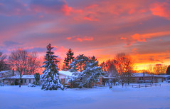 Winter can be beautiful too... (Kc Jacoby Photography LLC) Tags: camera sunset snow cold canon landscape michigan january powershot s2is snowfall canonpowershots2is hdr freshsnow photomatix mywinners kcjacoby thehushofwinter grouptripod