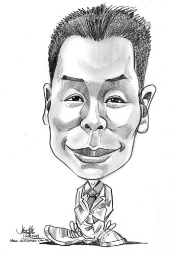 Caricature in pencil for flash animation