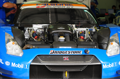 A closer look at a race car's engine bay, Super GT, Sepang, 2008