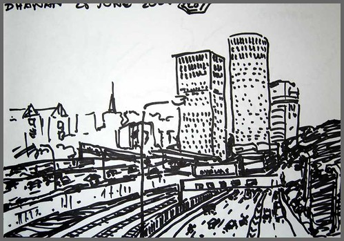 """Tel Aviv drawing"" series by Dhanan Sekhar"