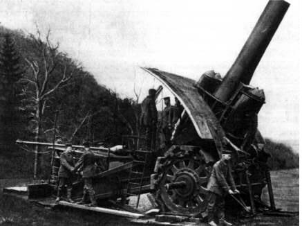 World War I era German mortar-howitzer