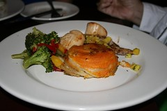 Red fish with sweet potato stack (dulasfloyd) Tags: florida seafood redfish panamabeach