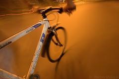 (pedro vidigal) Tags: city longexposure white motion blur france bike bicycle wheel speed de exposure tour sigma frame spinning commuting tourdefrance 1020 univega pedrovidigal