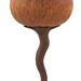 "Christmas Ornament- 7"" long hollow Cherry body with texture, textured and bleached Walnut stem and tail. First Place 20007 AAW Online Winter Contest. Sold"