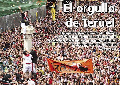 Puesta del pañuelico al torico 2008 Fiestas del Angel, La Vaquilla