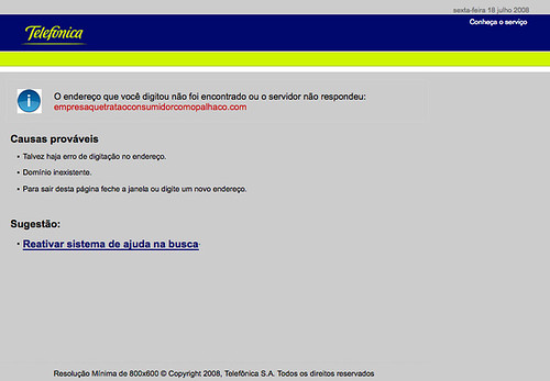 DNS Spoofing - Telefónica Brazil